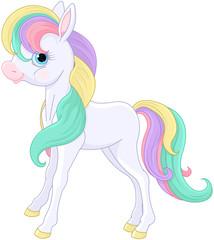 Rainbow Pony Sitting