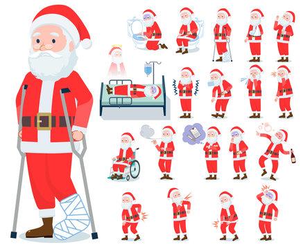 flat type Santa Claus_sickness