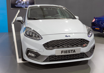 ATHENS, GREECE - NOVEMBER 15, 2019: Ford Fiesta ST at Aftokinisi Anytime 2019 Motor Show.