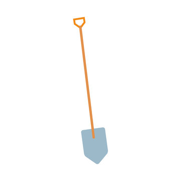 Isolated construction shovel icon vector design