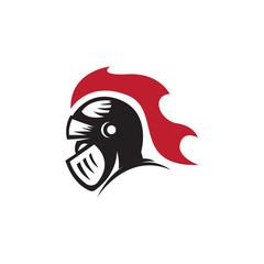 knight warrior viking logo vector illustration
