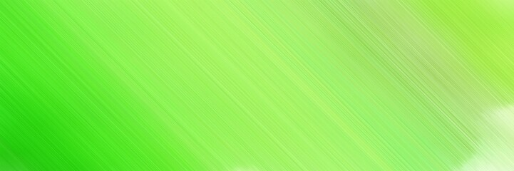 abstract colorful horizontal business banner background material with diagonal lines and light green, lime green and moderate green colors and space for text and image Wall mural