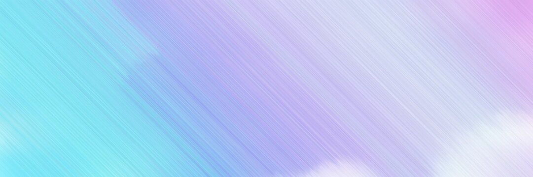 abstract digital web site banner background with lavender blue, sky blue and baby blue colors and space for text and image