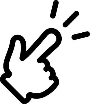指さす手のアイコン