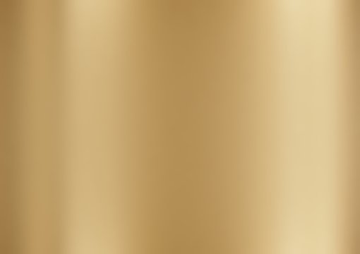 metallic gold foil texture polished glossy abstract background with copy space, metal gradient template for gold border, frame, ribbon design