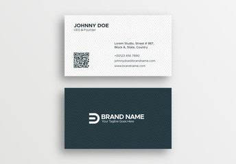 Corporate Professional Black and White Business Card Design Template
