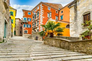 Foto auf AluDibond Schmale Gasse Labin Kroatien, Altstadt