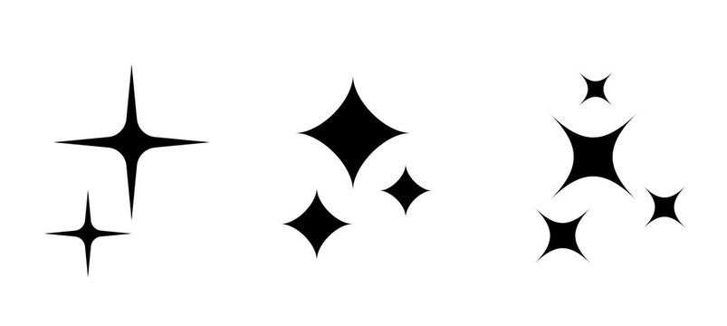 Sparkle stars vector icon set