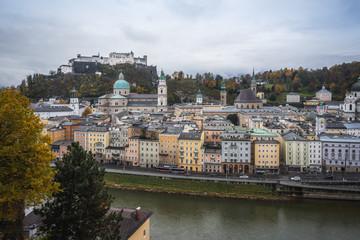 Aerial view of Salzburg skyline - Salzburg, Austria
