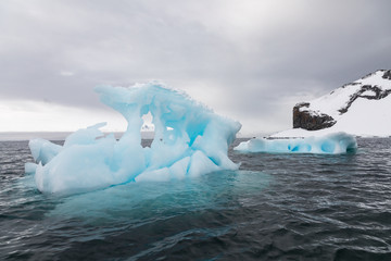 Icebergs floating in Antarctica waters