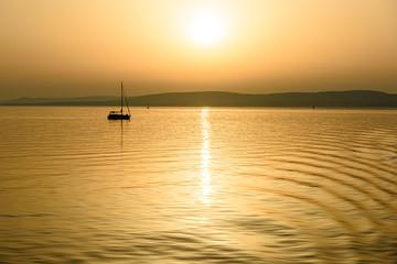 Lago Balaton, Ungheria, tramonto
