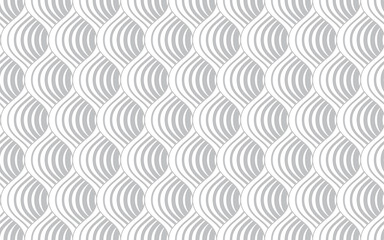 Foto op Canvas Geometrisch The geometric pattern with wavy lines. Seamless vector background. White and grey texture. Simple lattice graphic design.