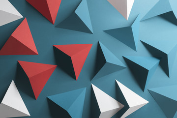 Triangular shapes, geometric abstract background