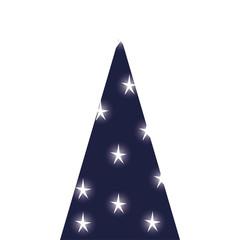 christmas pine tree decorative icon