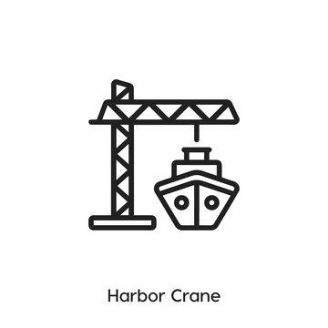 harbor crane icon vector symbol sign