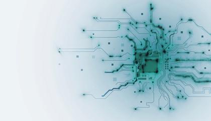 processore, memoria, digitale, cpu, tecnologia futuristica Wall mural