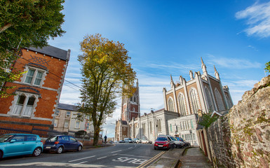 street in Cork near Cathedral of St Mary and St Anne