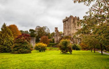 panorama of autumn park in  Blarney  near Cork, Ireland