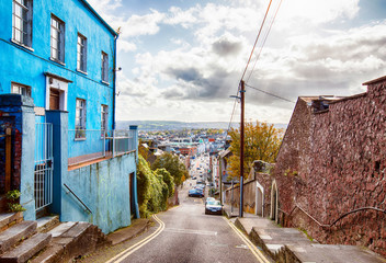 view at the center of Cork from St Patrick's Hill, Ireland