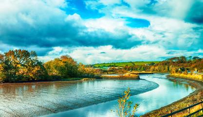 road over river Bandon near Kinsale village, Cork region in Ireland