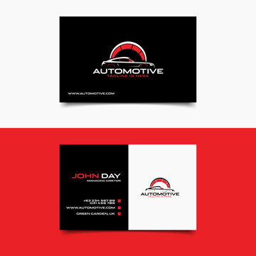 Modern Automotive Business Card