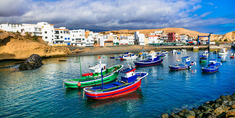 Fototapete - Traditional fishing village in Tenerife island - picturesque San Miguel de Tajao. Canarian islands of Spain