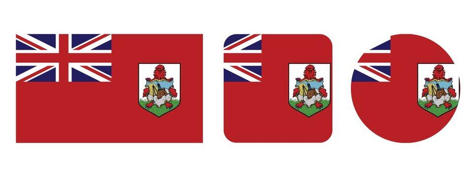 Bermuda flag, vector illustration