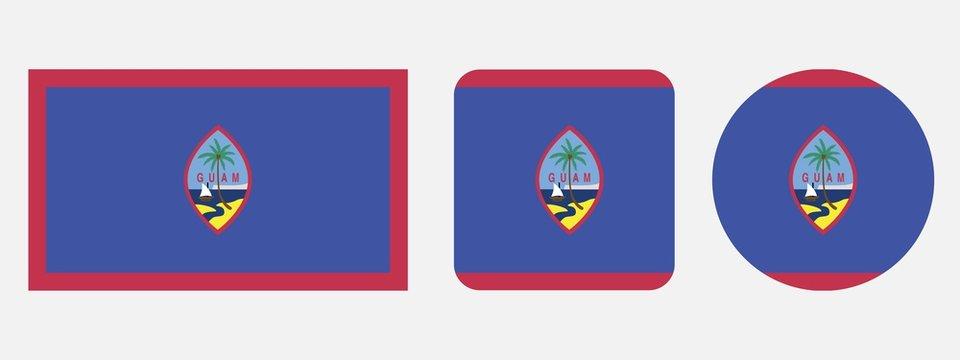 Guam flag, vector illustration