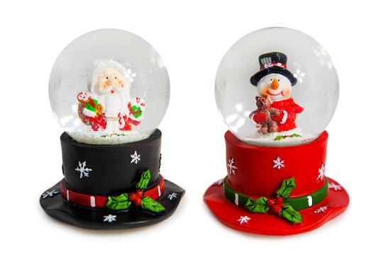 Christmas snow globe. Decoration element