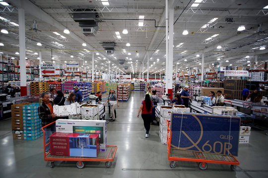 Shoppers buy televisions during the shopping season, 'El Buen Fin' (The Good Weekend), at a Costco store in the municipality of San Pedro Garza Garcia