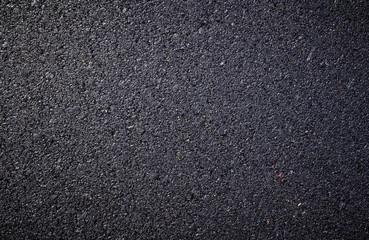 close up of new asphalt road texture