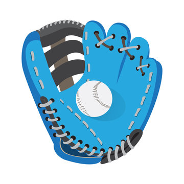 Baseball glove with a ball - Vector illustration
