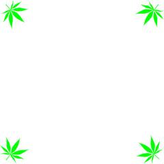 A cannabis leaf corner border background.