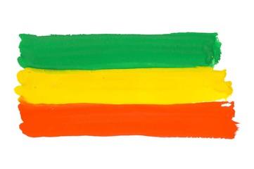 Colorful Rastafarian flag vector background