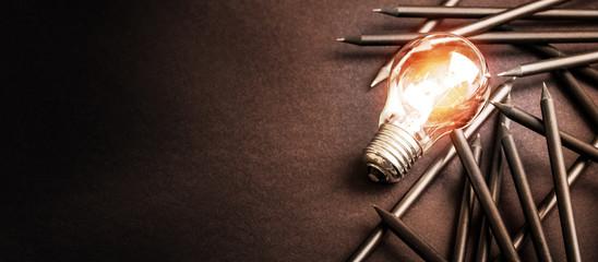 Creative idea and innovation concept.