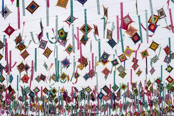 mexican mandalas ojos de dio colorful patterns