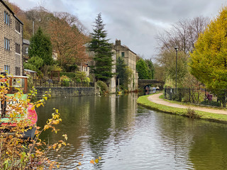 Canal at Hebden Bridge, West Yorkshire