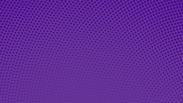 Purple with violet pop art background with dots design, abstract vector illustration in retro comics style