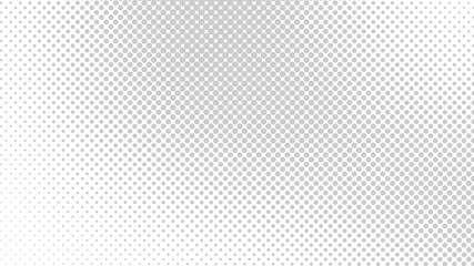 Monochrome grey and white pop art background in vitange comic style with halftone dots, vector illustration template for your design