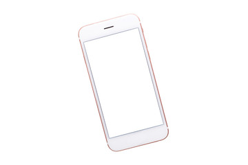 Mobile phone mock up on a white background isolated