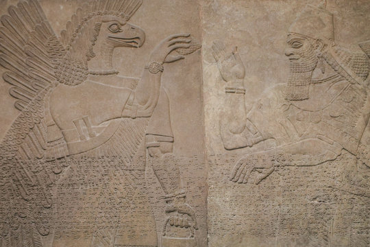 Assyrian carving