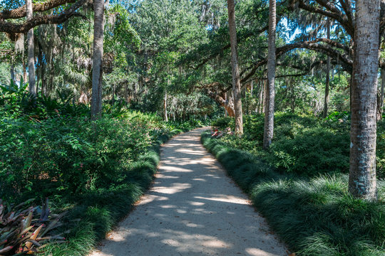 Trail in Washington Oaks Gardens State Park in Palm Coast, Florida