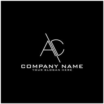 Letter AC logo icon design template elements