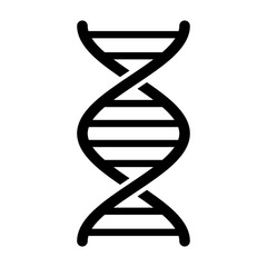 DNA / deoxyribonucleic acid double helix flat vector icon for science apps and websites
