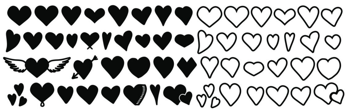 Heart .Heart vector set.Heart vector icon.Heart vector sign