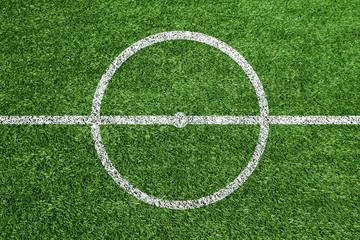 サッカーグラウンドのセンターサークル