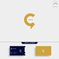 Letter C Chat Talk Logo Template Vector Design