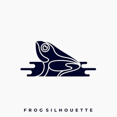 Frog Illustration Vector Design Template