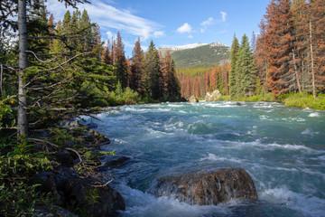 Kanada, Maligne River im Jasper Nationalpark, Canadian Rockies