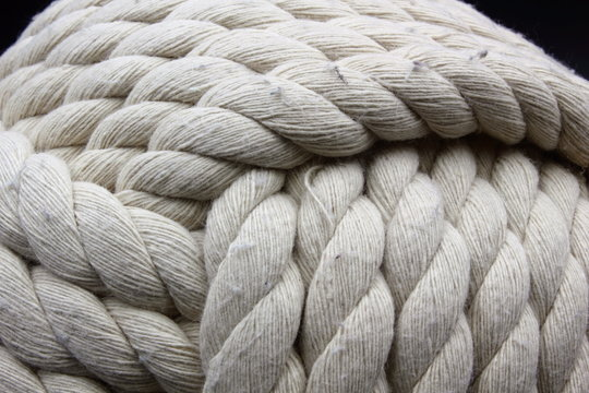 monkey fist rope ball abstract background